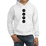 Black Buttons Hooded Sweatshirt