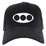 Black Buttons Black Cap
