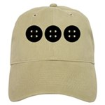 Black Buttons Cap