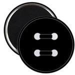 Black Button Magnet
