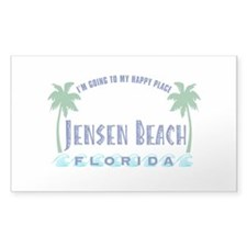 Jensen Beach Happy Place - Rectangle Decal