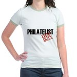 Off Duty Philatelist Jr. Ringer T-Shirt