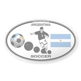 Argentina Oval Soccer Oval Sticker (10 pk)