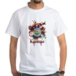 Butterfly Kansas White T-Shirt