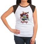 Butterfly Kansas Women's Cap Sleeve T-Shirt