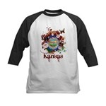 Butterfly Kansas Kids Baseball Jersey