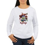Butterfly Kansas Women's Long Sleeve T-Shirt