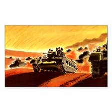 British Tanks Rectangle Sticker 50 pk)