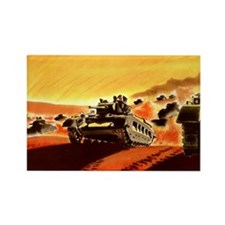 British Tanks Rectangle Magnet (100 pack)