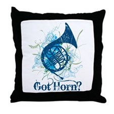 Got Horn Grunge Throw Pillow