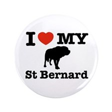 "I love my St Bernard 3.5"" Button (100 pack)"