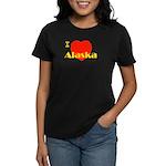 I Love Alaska! Women's Dark T-Shirt
