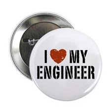 """I Love My Engineer 2.25"""" Button"""