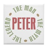 Peter Man Myth Legend Tile Coaster