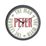 Peter Man Myth Legend Wall Clock