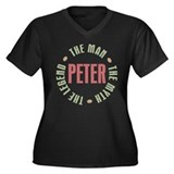 Peter Man Myth Legend Women's Plus Size V-Neck Dar