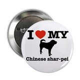 "I love my Chinese Shar-pei 2.25"" Button (100 pack)"