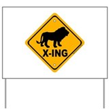 Lion X-ing Yard Sign