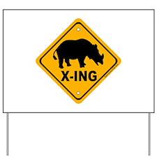 Rhino X-ing Yard Sign