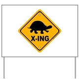 Turtle crossing Yard Signs