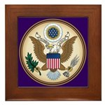 Presidents Seal Framed Tile