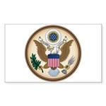 Presidents Seal Rectangle Sticker 10 pk)