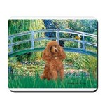 Lily Pond Bridge/Poodle (apri Mousepad