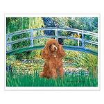 Lily Pond Bridge/Poodle (apri Small Poster