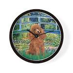 Lily Pond Bridge/Poodle (apri Wall Clock