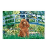 Lily Pond Bridge/Poodle (apri Postcards (Package o