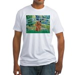 Lily Pond Bridge/Poodle (apri Fitted T-Shirt