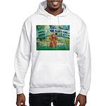 Lily Pond Bridge/Poodle (apri Hooded Sweatshirt