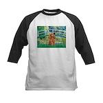 Lily Pond Bridge/Poodle (apri Kids Baseball Jersey