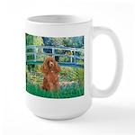 Lily Pond Bridge/Poodle (apri Large Mug