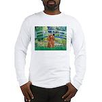Lily Pond Bridge/Poodle (apri Long Sleeve T-Shirt