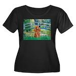 Lily Pond Bridge/Poodle (apri Women's Plus Size Sc