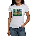 Lily Pond Bridge/Poodle (apri Women's T-Shirt