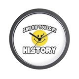 """Smile if You Love History"" Wall Clock"