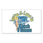 Love 'em & Leave 'em Rectangle Sticker
