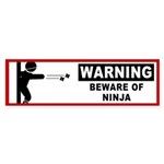 Beware of Ninja Bumper Sticker (10 pk)