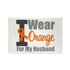 I Wear Orange (Husband) Rectangle Magnet (10 pack)