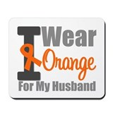 I Wear Orange (Husband) Mousepad