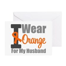 I Wear Orange (Husband) Greeting Cards (Pk of 10)