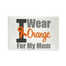 I Wear Orange For My Mom Rectangle Magnet