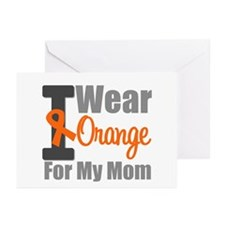 I Wear Orange For My Mom Greeting Cards (Pk of 10)