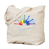 Guitar Rainbow Tote Bag