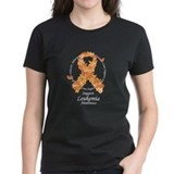 Leukemia Butterfly Ribbon Tee