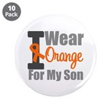 "I Wear Orange For My Son 3.5"" Button (10 pack)"