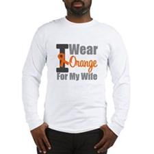 I Wear Orange (Wife) Long Sleeve T-Shirt