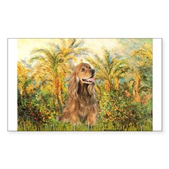Palms/Cocker Spaniel (brown) Sticker (Rectangle 50